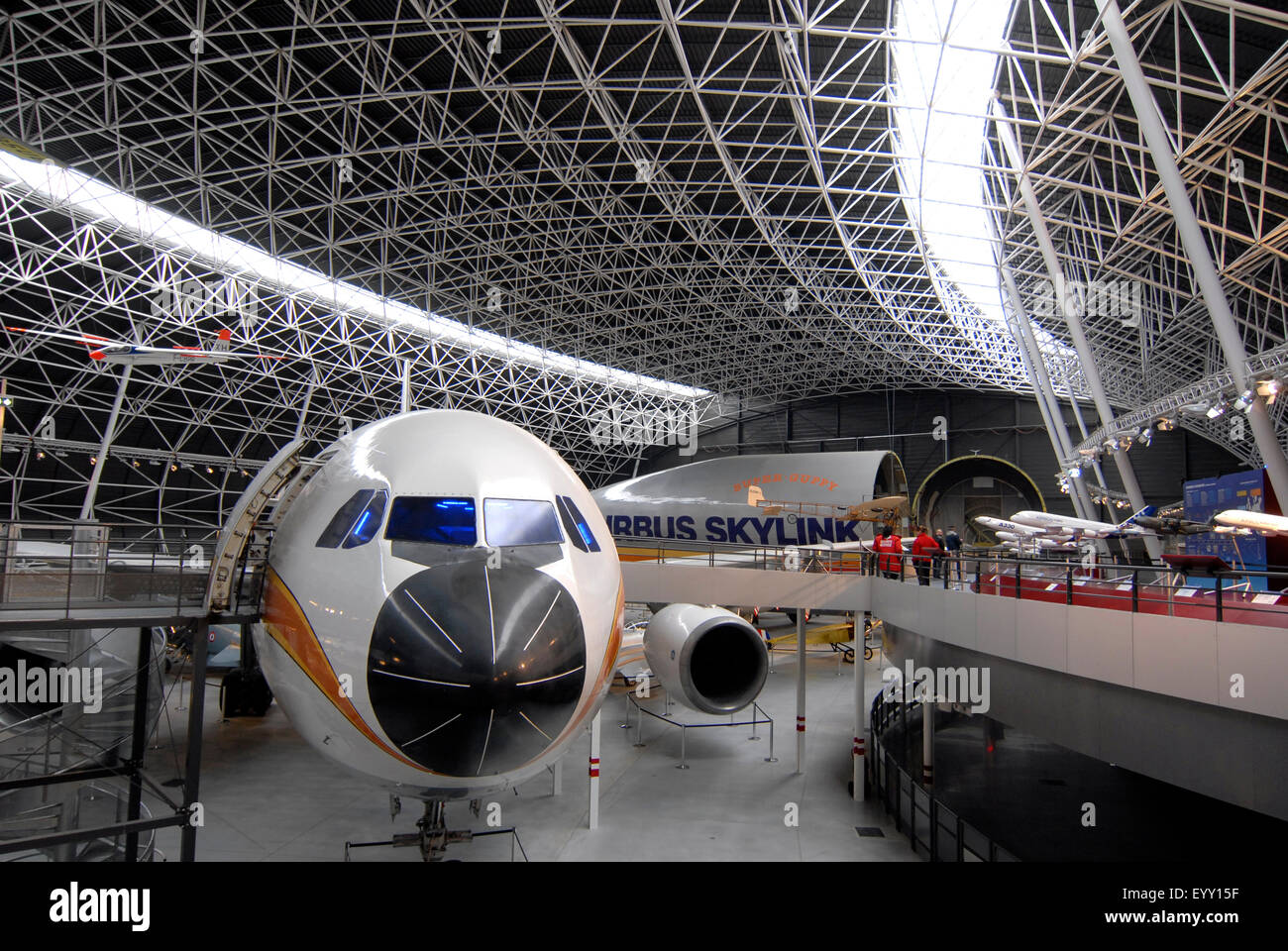 Musée Aeroscopia, Aeronautical Museum, Toulouse, France. Collection of antiques aircrafts - Stock Image