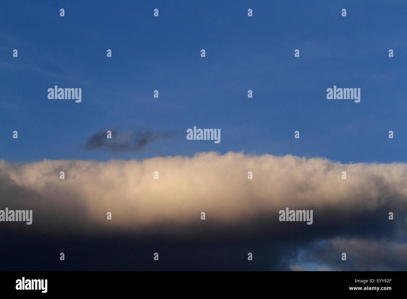 rain cloud, Germany - Stock Image