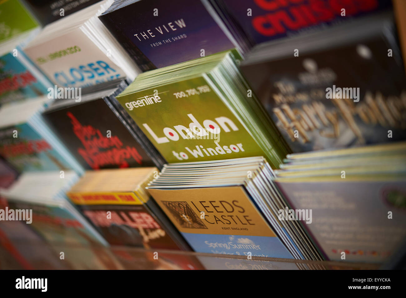 leaflets in a london hotel - Stock Image