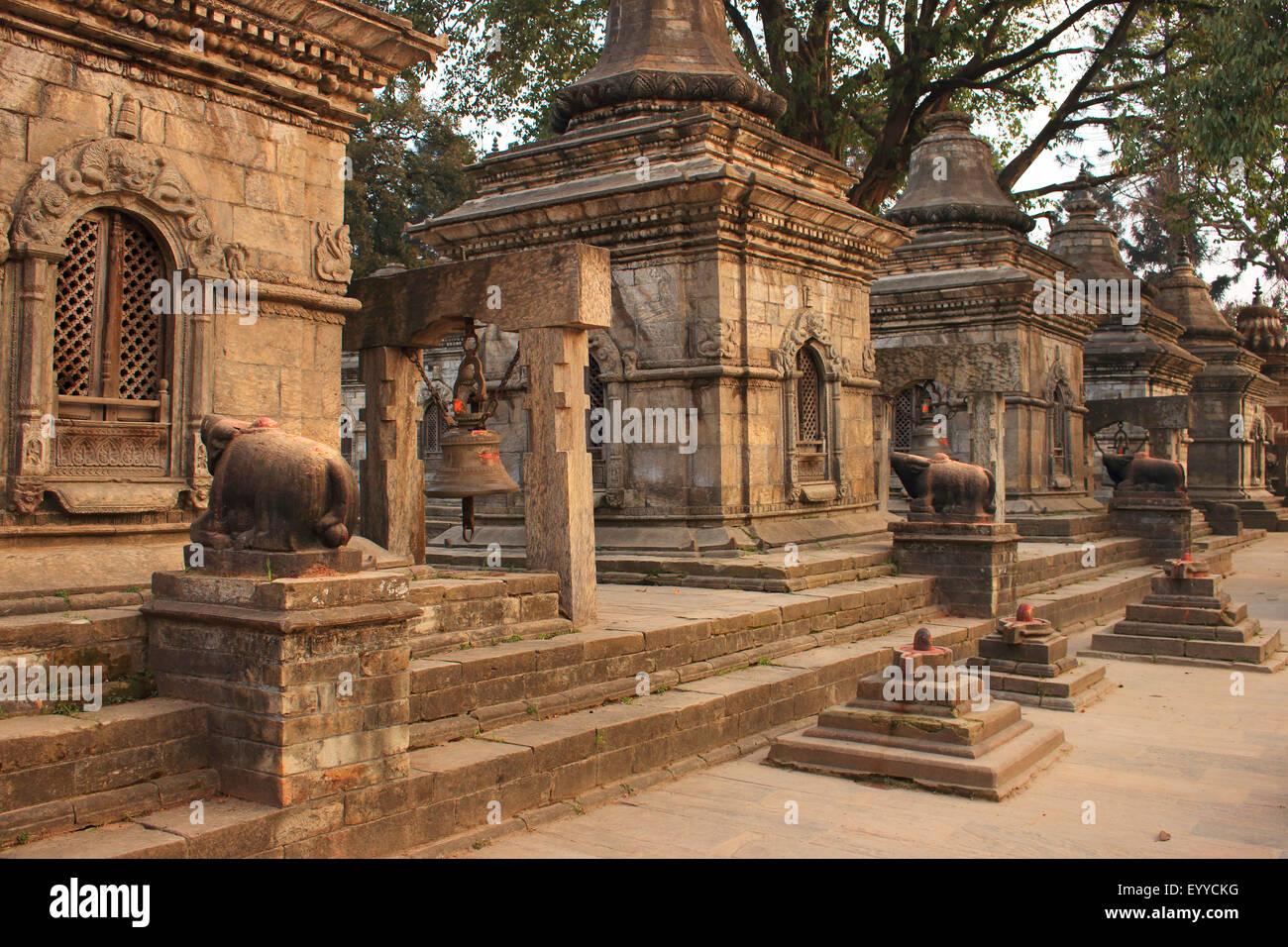 Pashupatinath Temple, Nepal, Kathmandu, Pashupatinath - Stock Image
