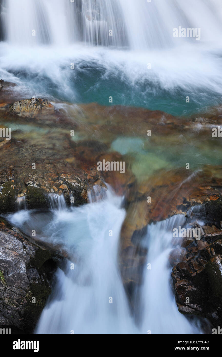 waterfall, Switzerland, Grisons, Engadine Stock Photo