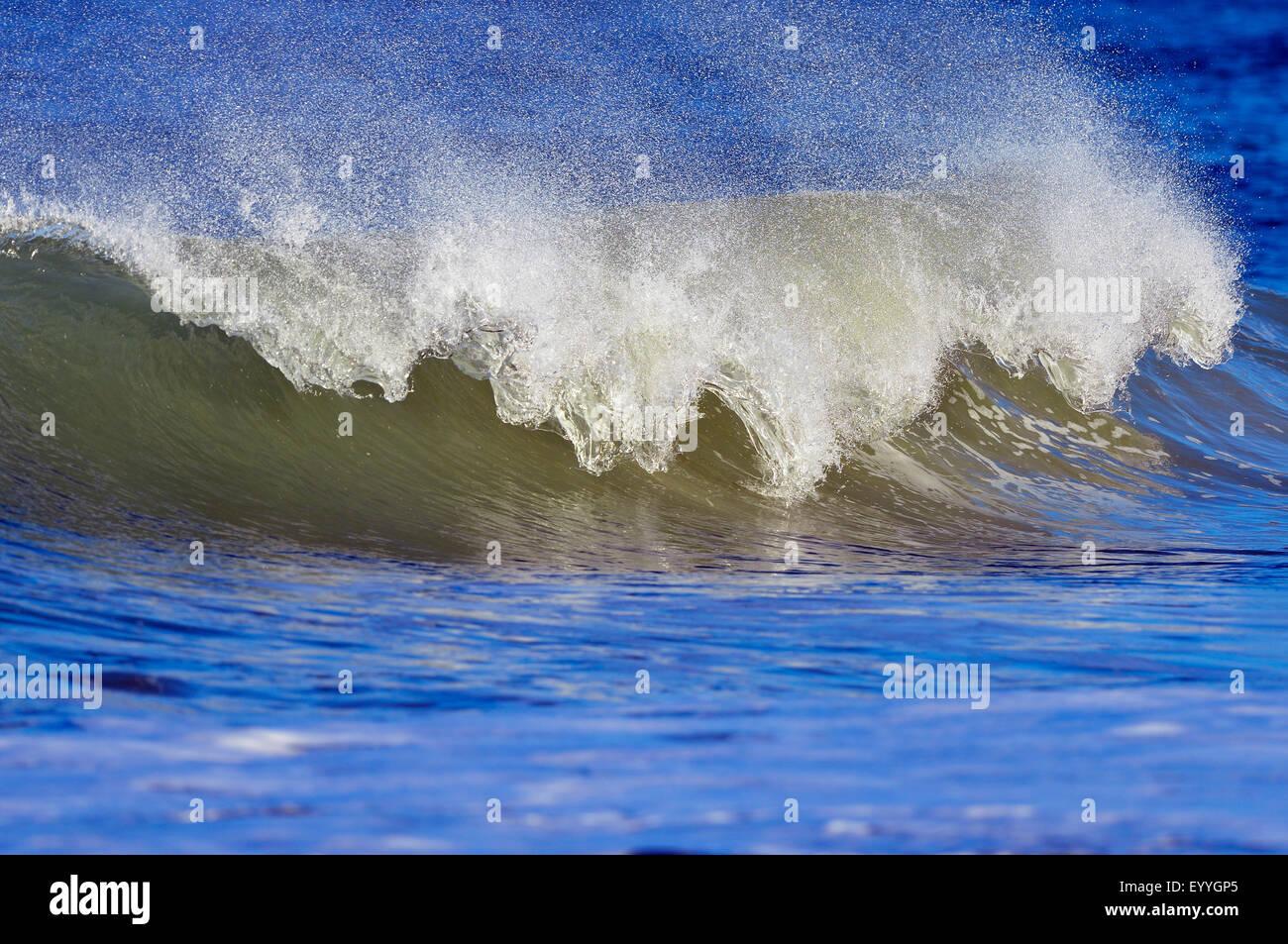breaking wave, Germany, Schleswig-Holstein, Heligoland - Stock Image