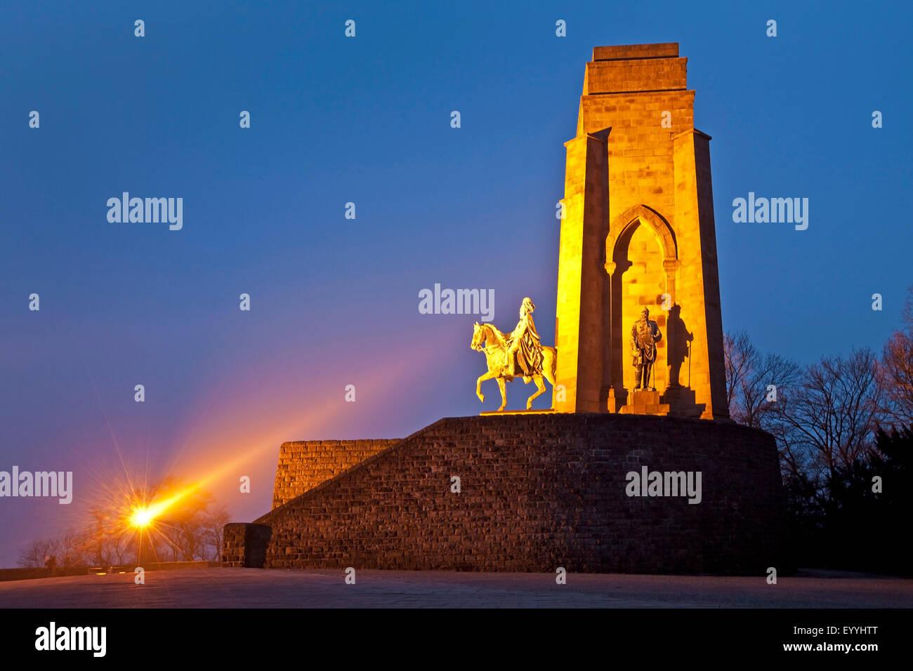 Emperor William monument in Dortmund-Hohensyburg, Germany, North Rhine-Westphalia, Ruhr Area, Dortmund - Stock Image