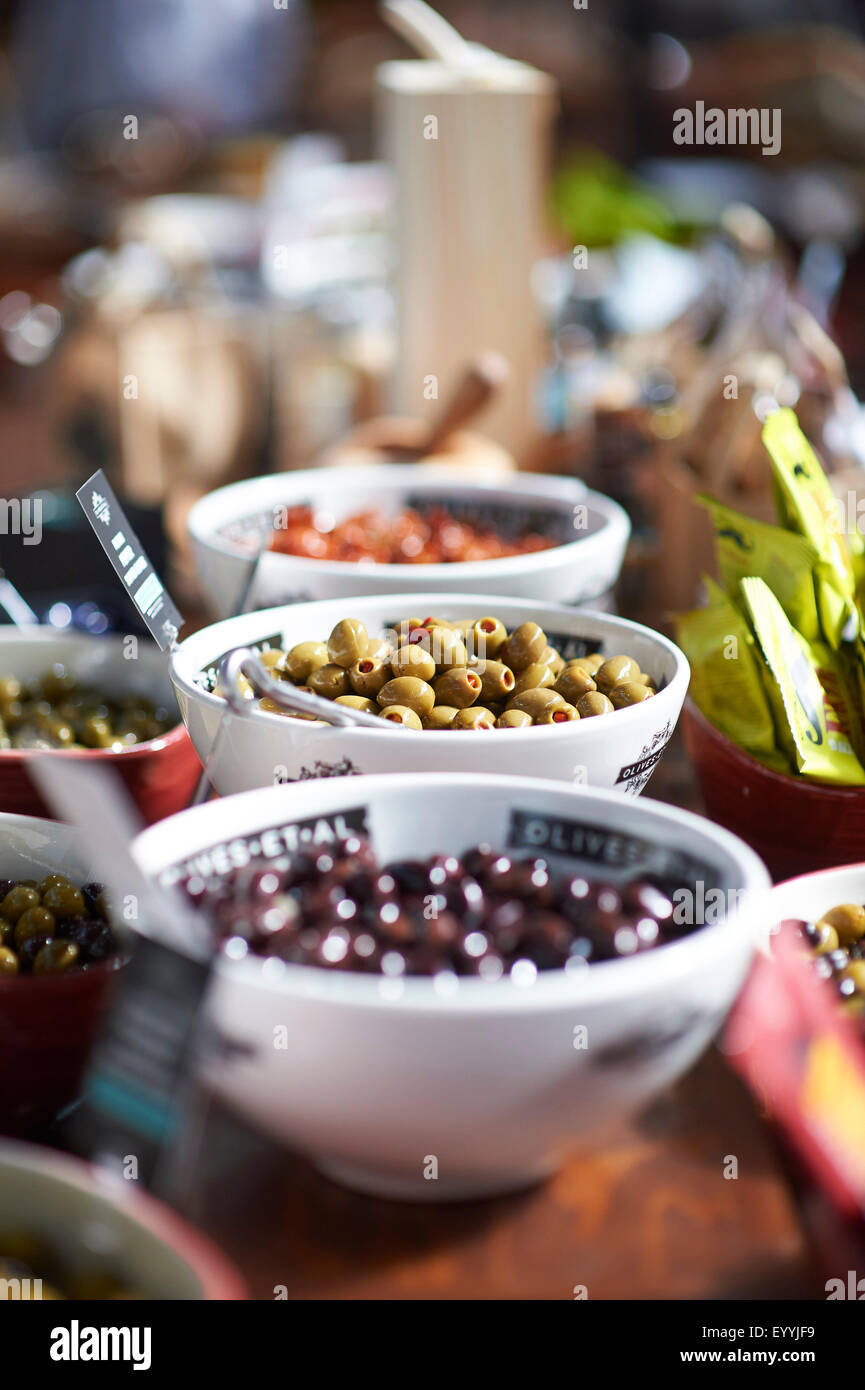 olives in bowls - Stock Image