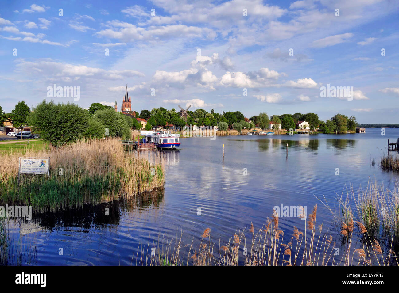 Werder Havel The Holy Spirit Church And Goat S Windmill On The