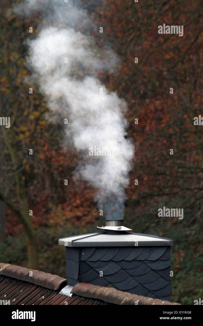 exhaust emissions of gas heating, Germany - Stock Image
