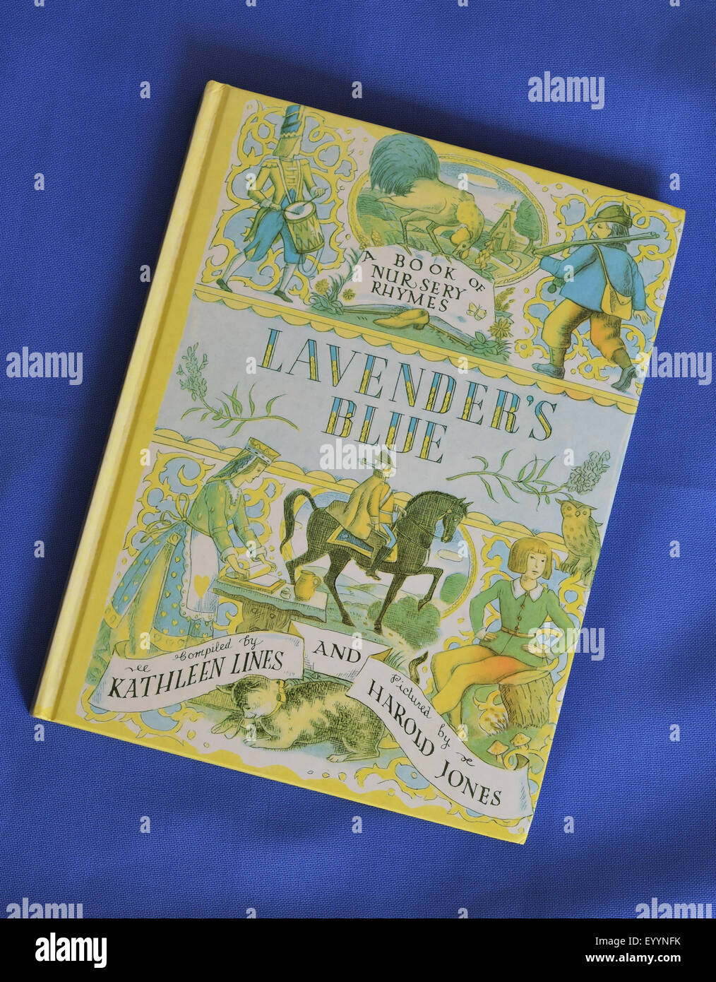 Lavender's Blue - A Book of Nursery Rhymes -  compiled by Kathleen Lines and pictured by Harold Jones. Published - Stock Image