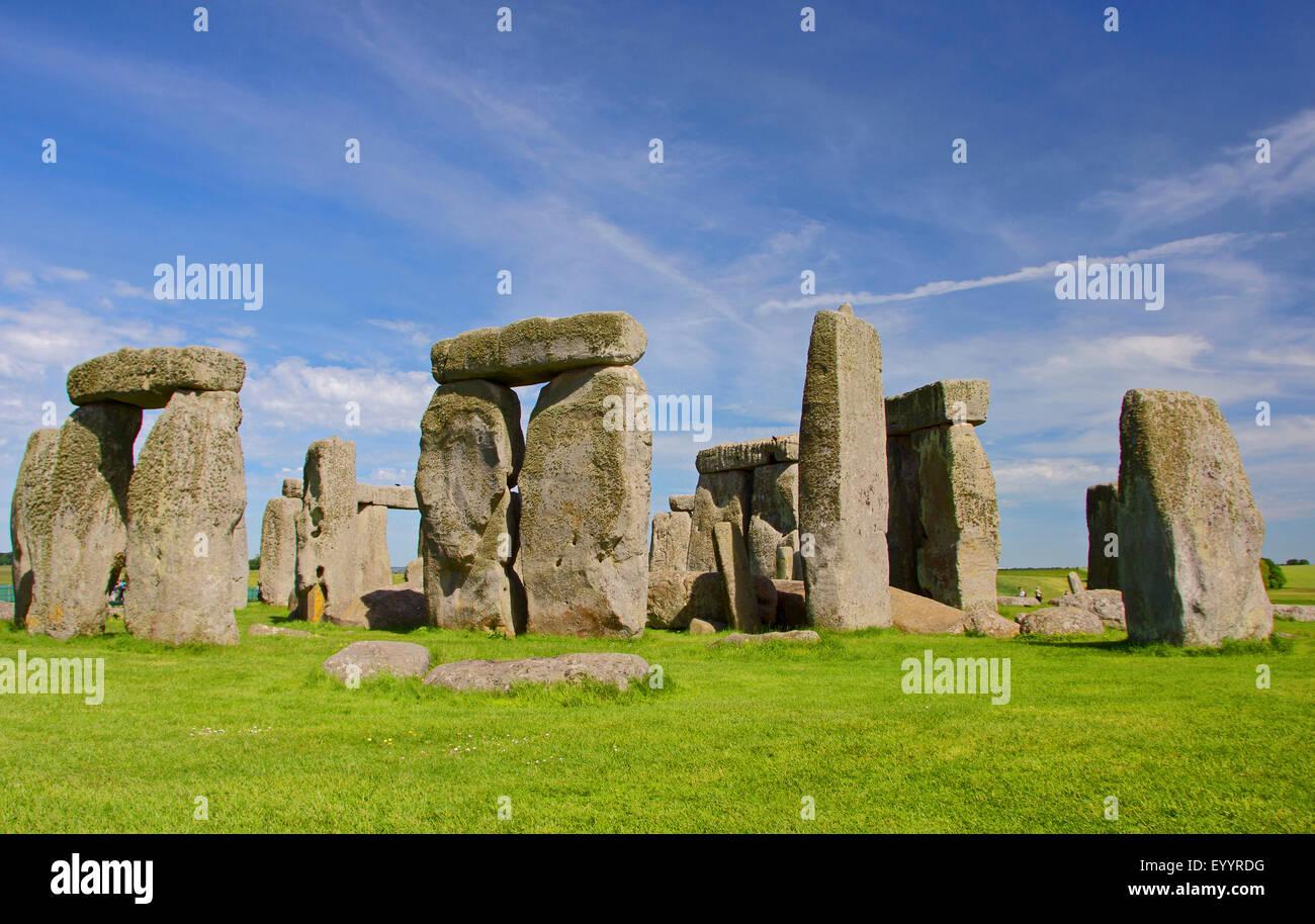 Stonehenge, Wiltshire, United Kingdom, England, Stonehenge - Stock Image