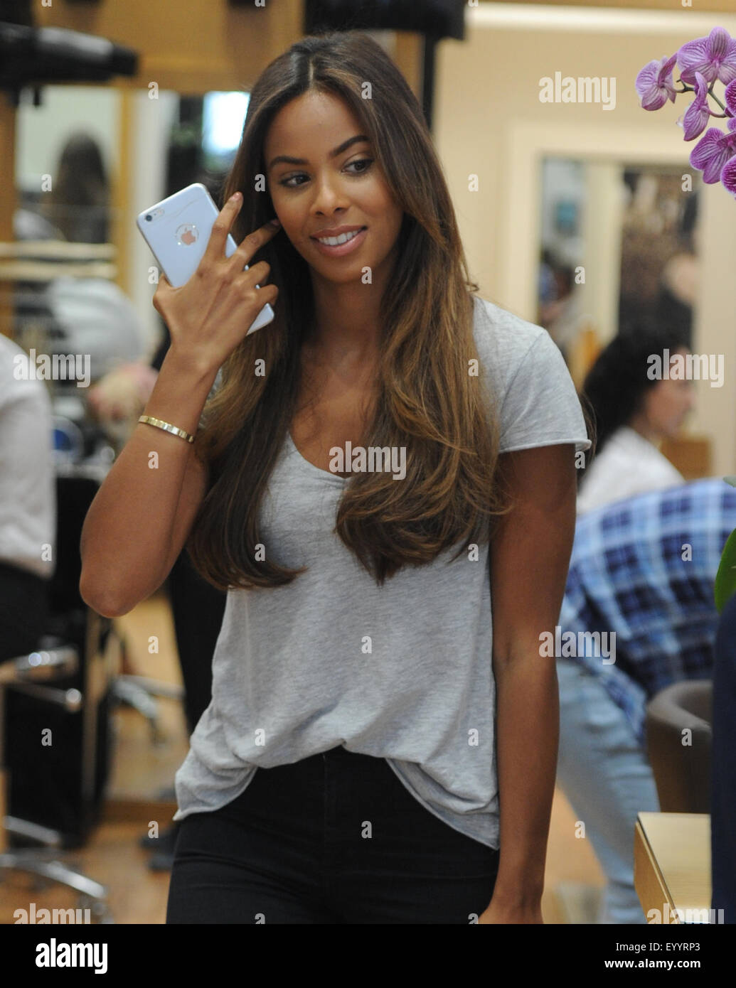 Rochelle Humes At Inanch London Hair Salon Featuring Rochelle Humes Stock Photo Alamy
