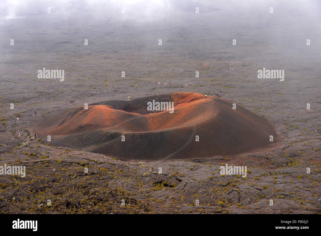 volcanic crater Formica Leo Piton de la Fournaise , Reunion - Stock Image