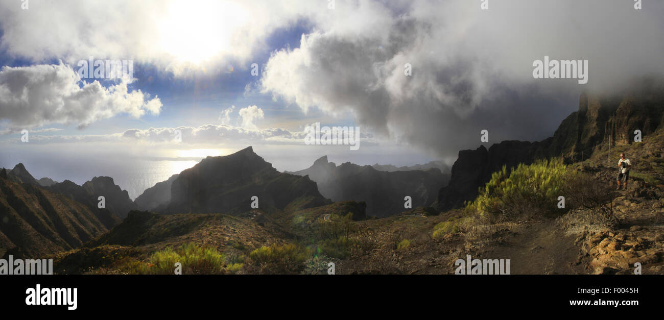 Macizo de Teno, Teno massif, Canary Islands, Tenerife, Santiago de Teide - Stock Image