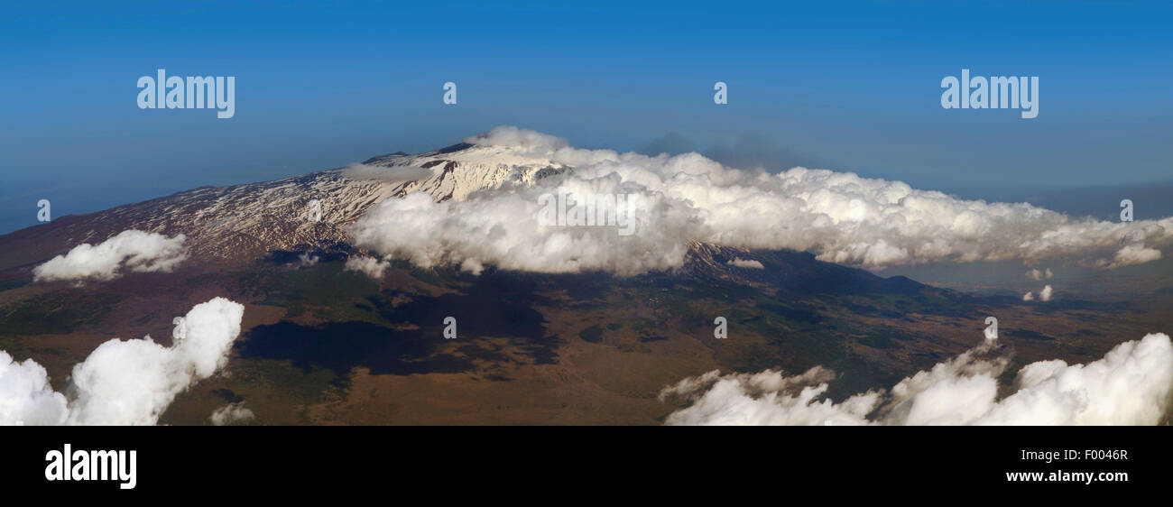 aerial view to Mount Etna, Italy, Sicilia - Stock Image