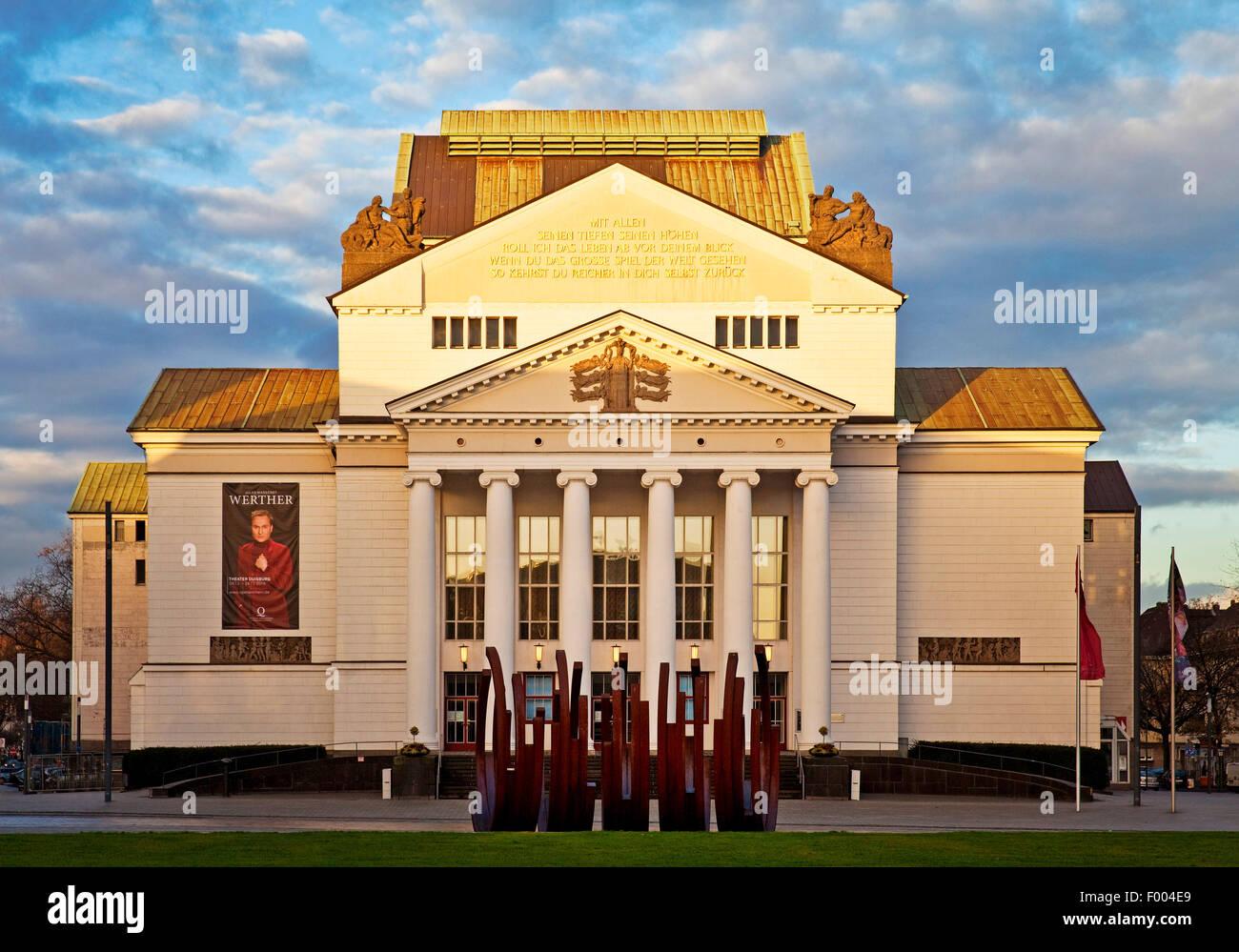 Duisburg Theatre, Germany, North Rhine-Westphalia, Ruhr Area, Duisburg - Stock Image