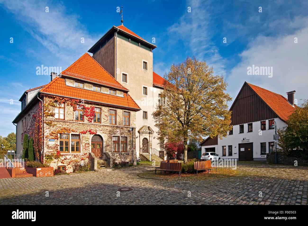 Horn Castle, Germany, North Rhine-Westphalia, East Westphalia, Horn-Bad Meinberg - Stock Image