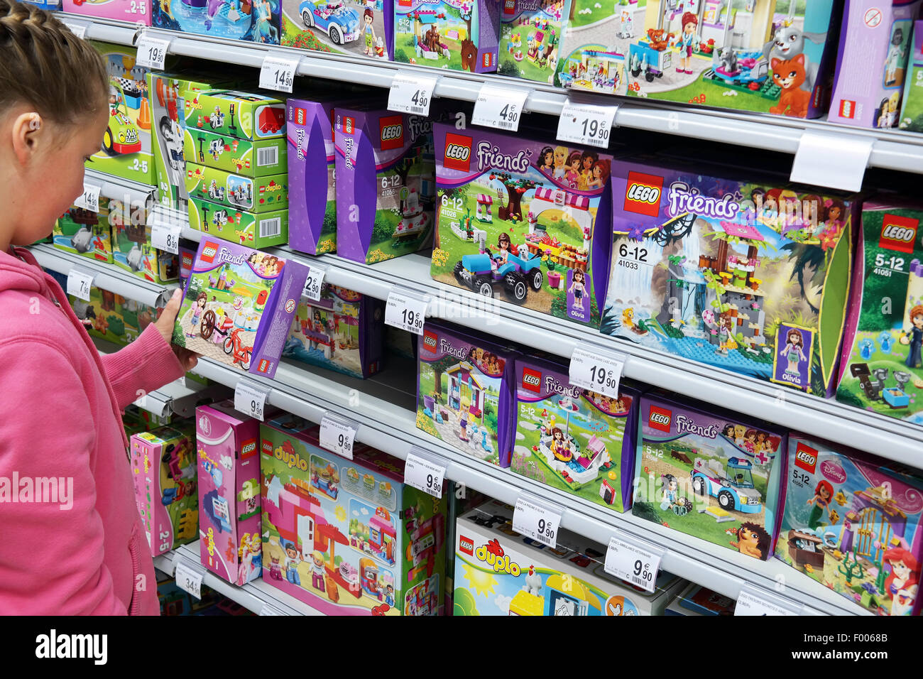Toys And Friends : Lego friends in a toys store stock photo alamy