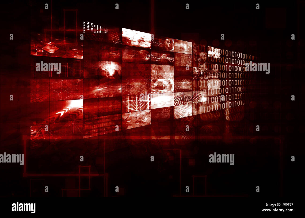 Data Management Technology and Big Data as Art - Stock Image