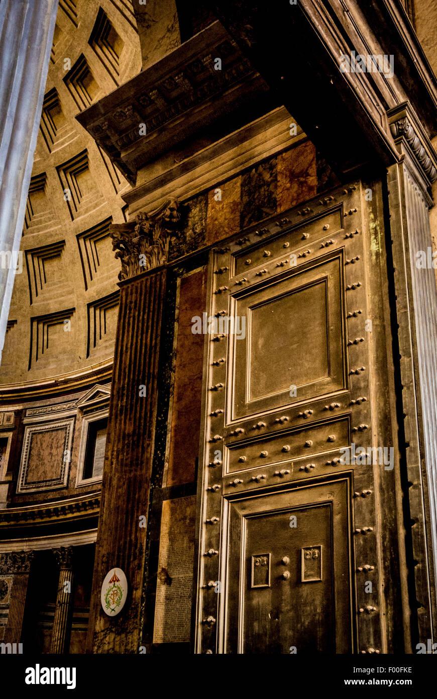 Original Bronze Exterior Door Of The Pantheon Ancient Roman Temple