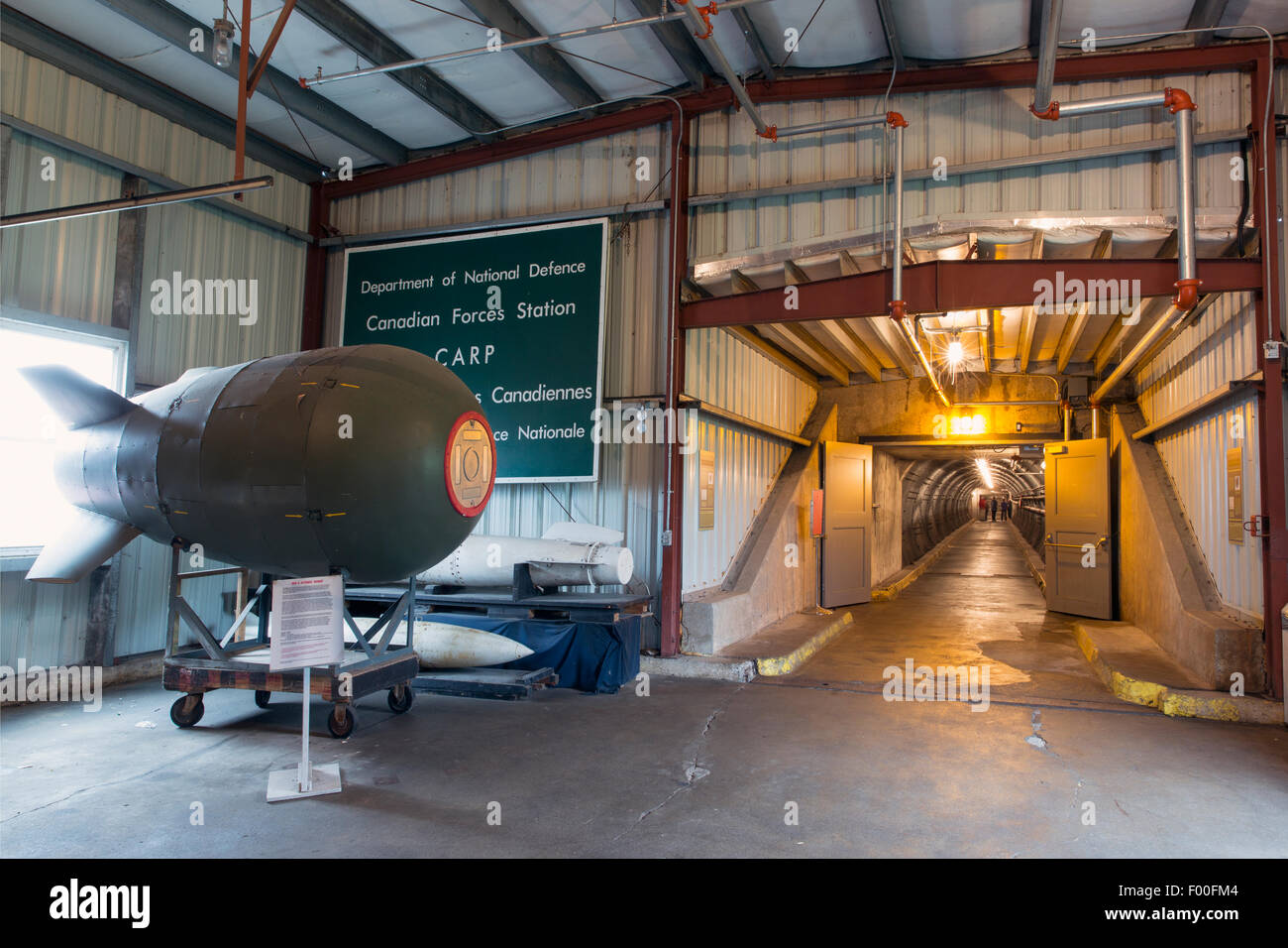 Canada,Ontario,Carp,Diefenbunker, Canada's Cold War Museum,atom bomb and blast tunnel - Stock Image