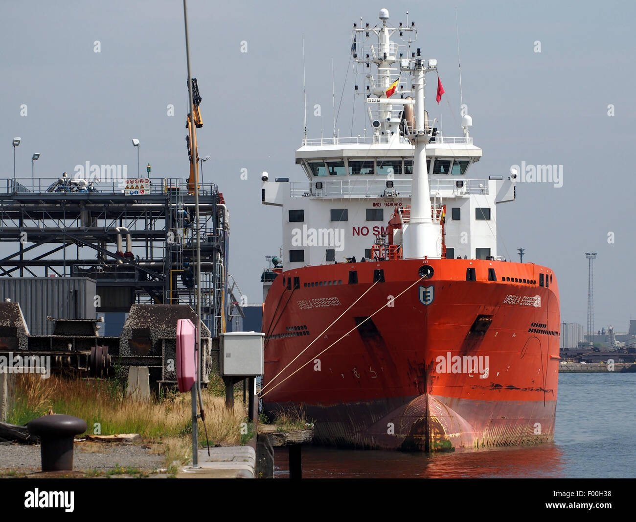 Ursula Essberger - IMO 9480992, Port of Antwerp - Stock Image