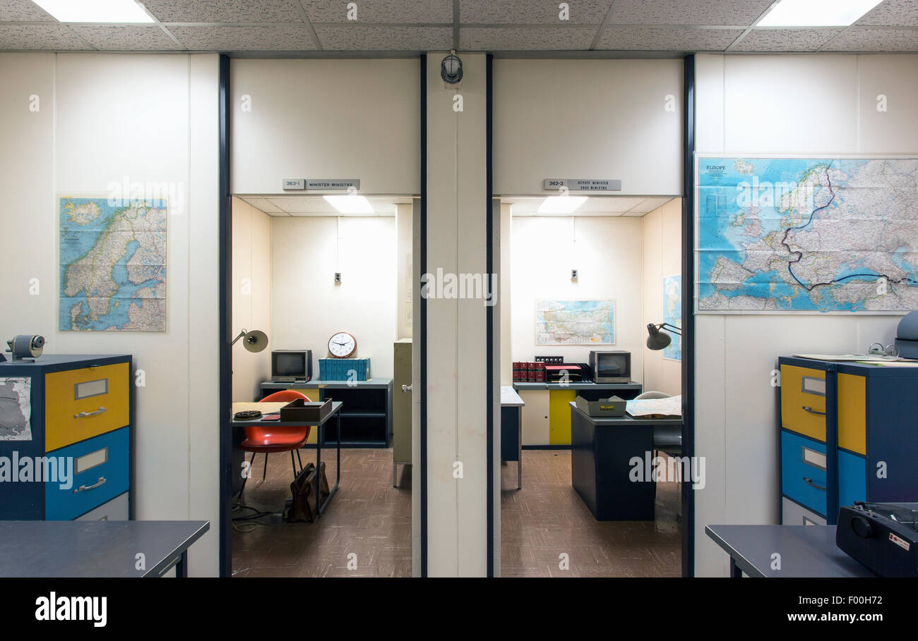 Canada,Ontario,Carp,Diefenbunker, Canada's Cold War Museum,offices - Stock Image