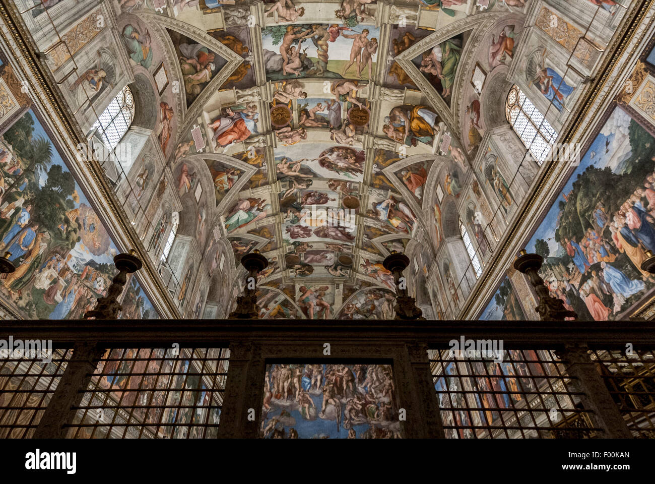 The Sistine Chapel Ceiling Painted By Michelangelo Vatican