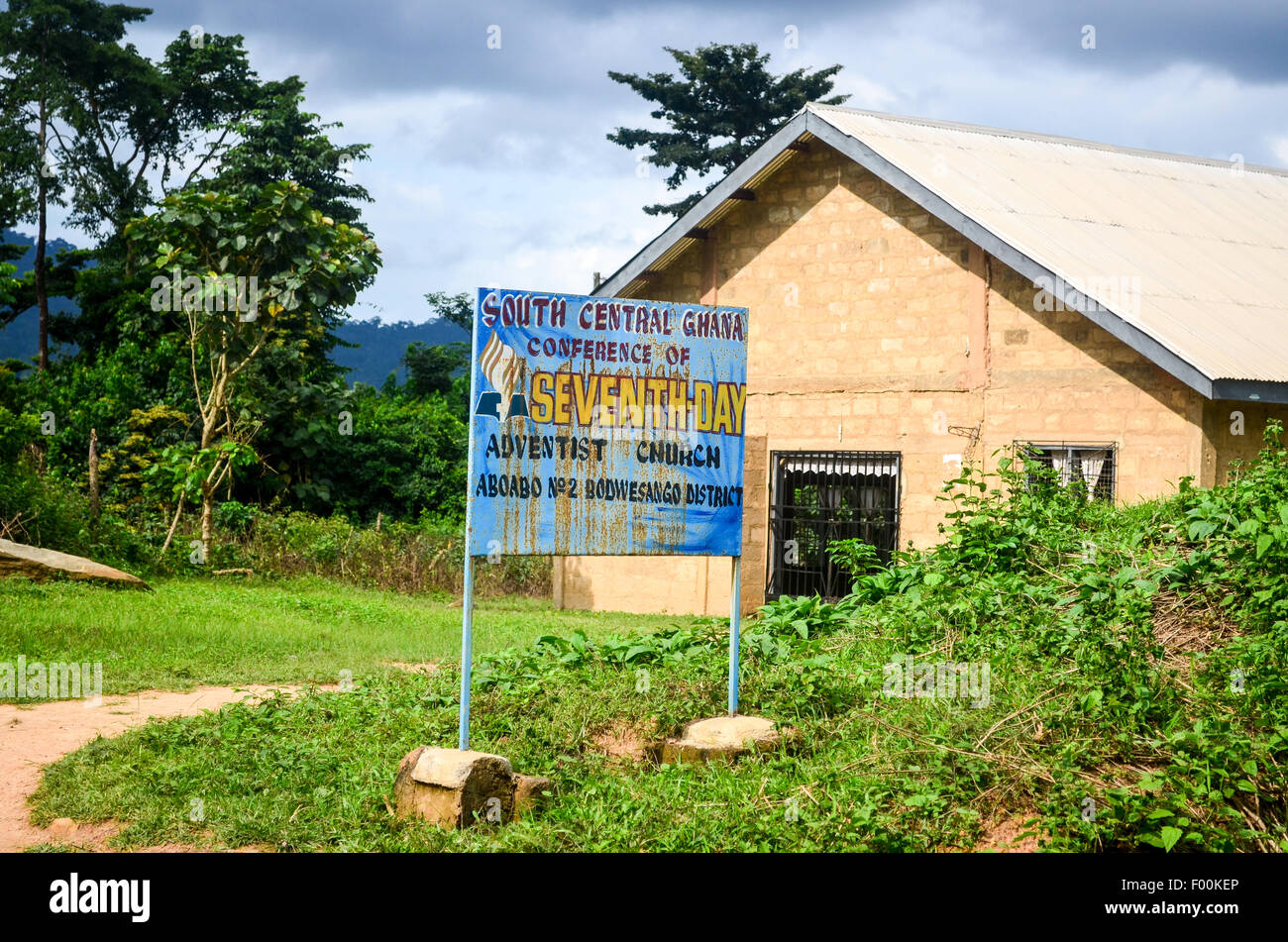 Seventh day adventist church - South Central Ghana conference - Stock Image