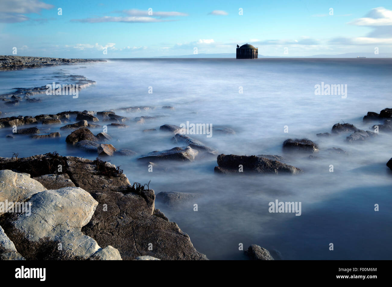 The cold water intake caisson in the Bristol Channel off Breaksea Point, for Aberthaw coal fired power station. - Stock Image