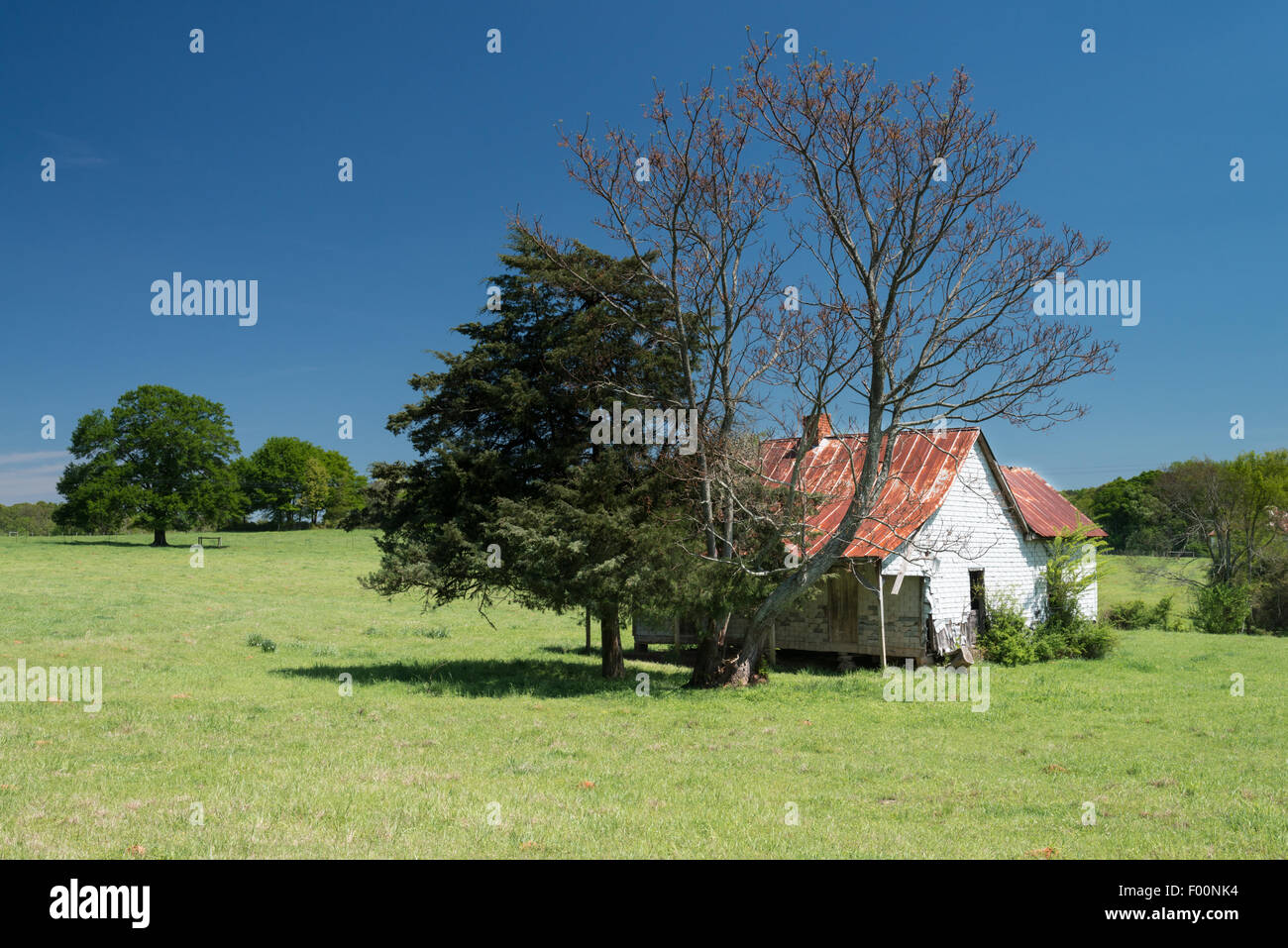 Old Farm house in Georgia, USA. - Stock Image