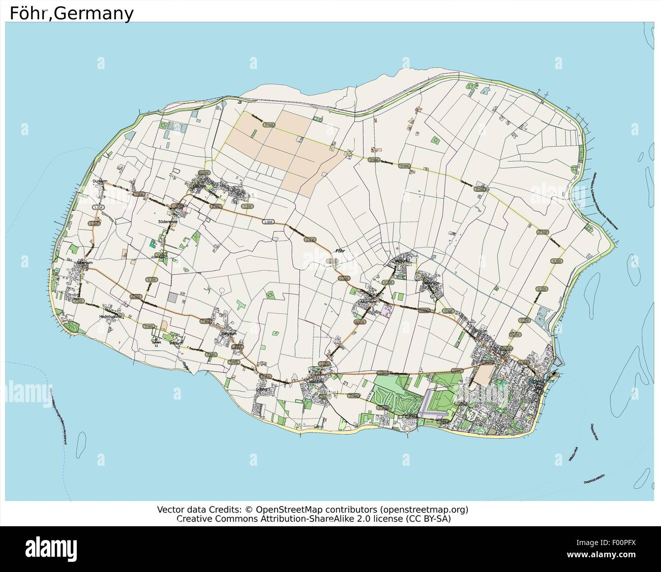 fohr island germany country city island state location map