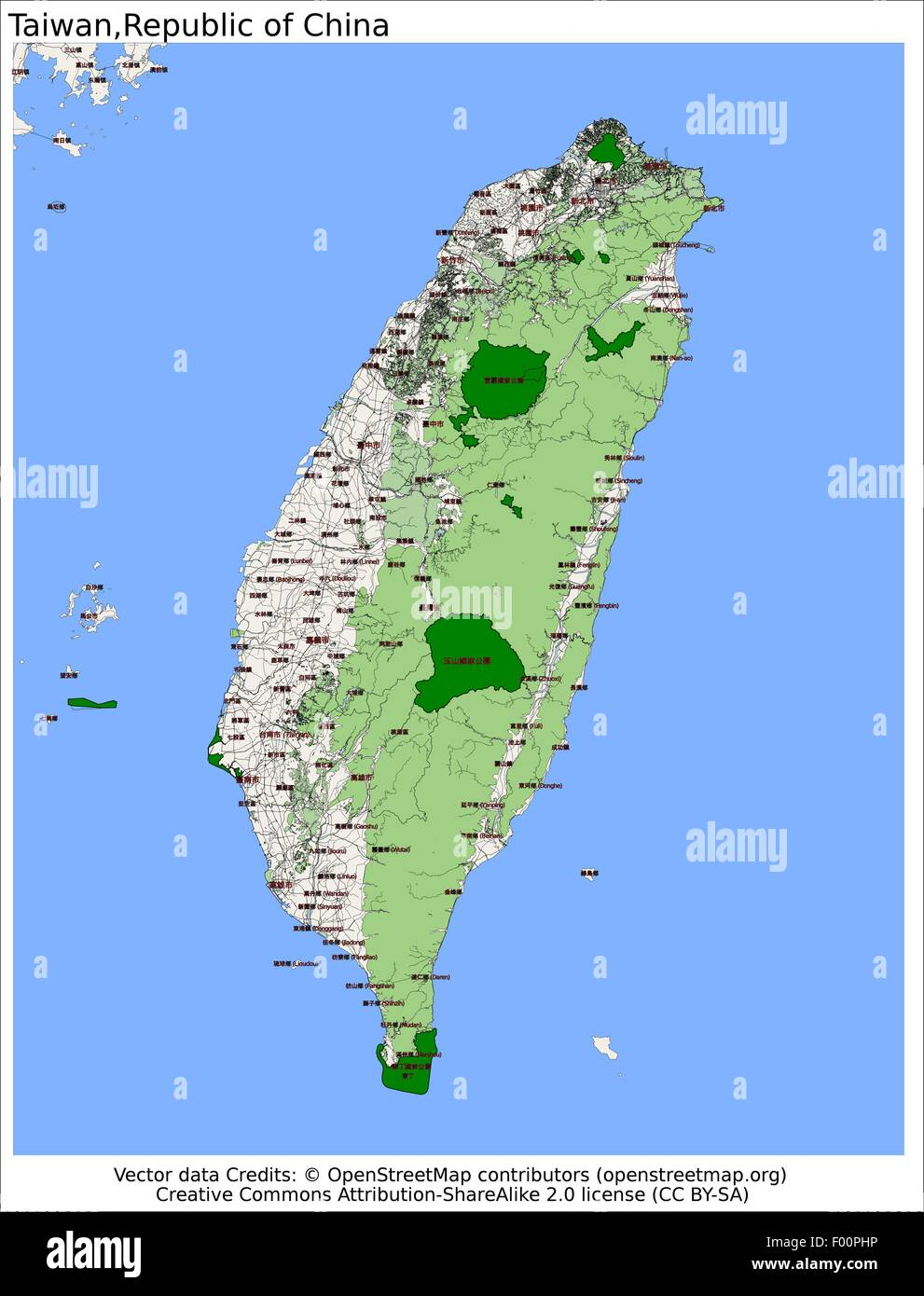 Taiwan Republic of China Country city island state location map