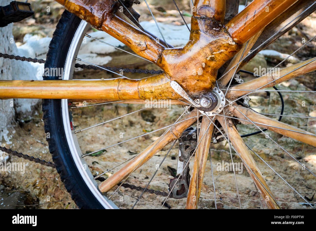 Ghana bamboo bikes Stock Photo