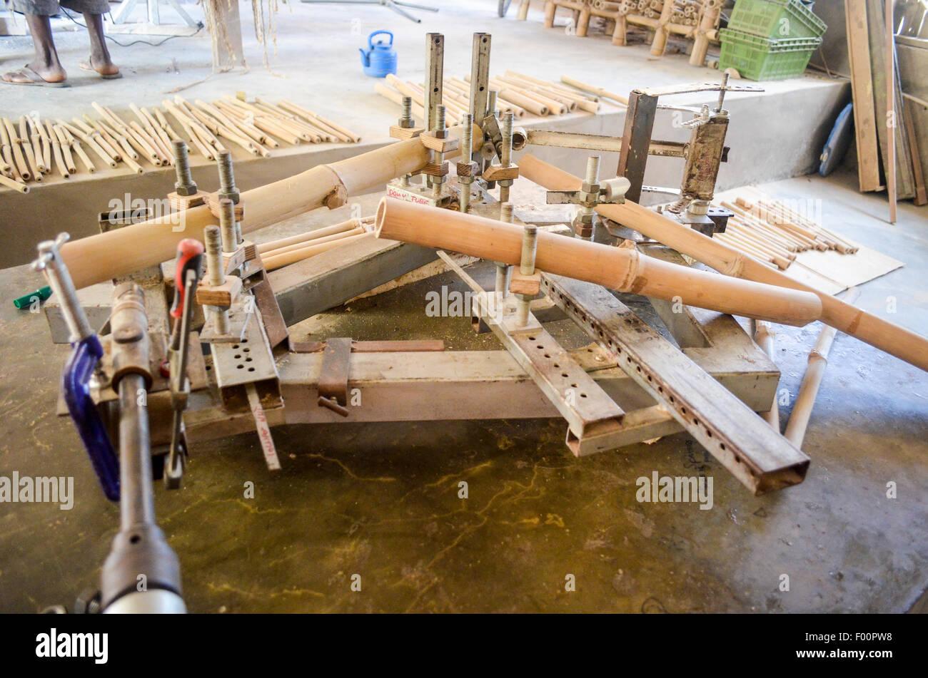 Ghana bamboo bikes - Stock Image