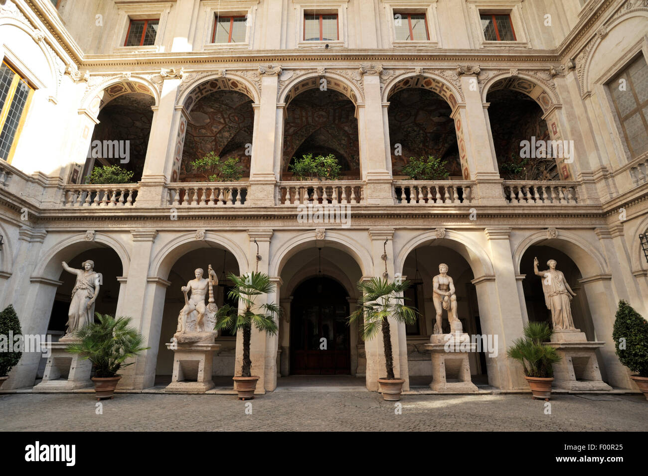 italy, rome, palazzo altemps, museo nazionale romano, roman national museum - Stock Image