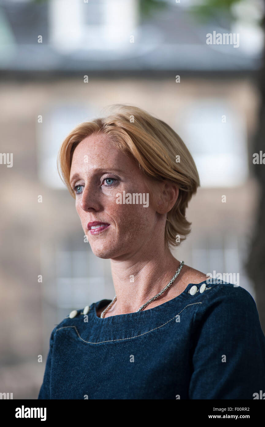 British actress Rosie Rowell, appearing at the Edinburgh International Book Festival. - Stock Image