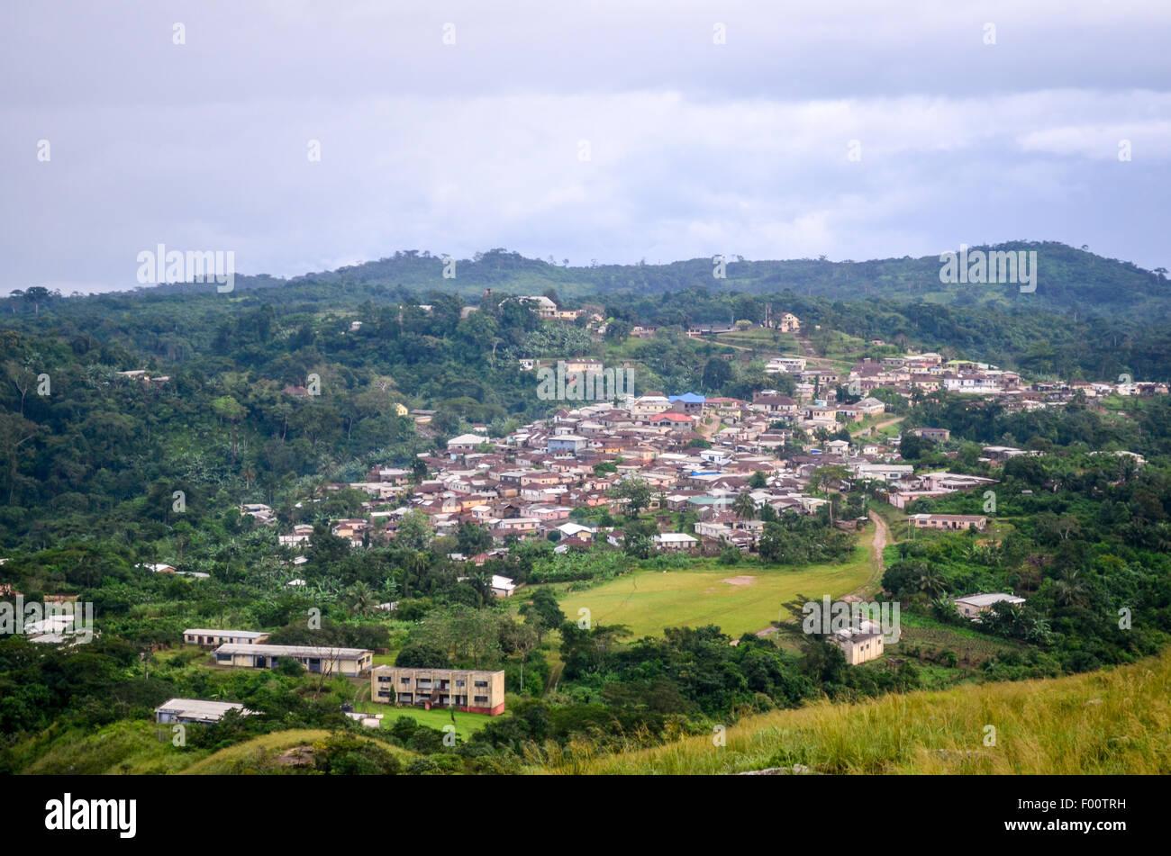Touristic village of Amedzofe, Ghana - Stock Image