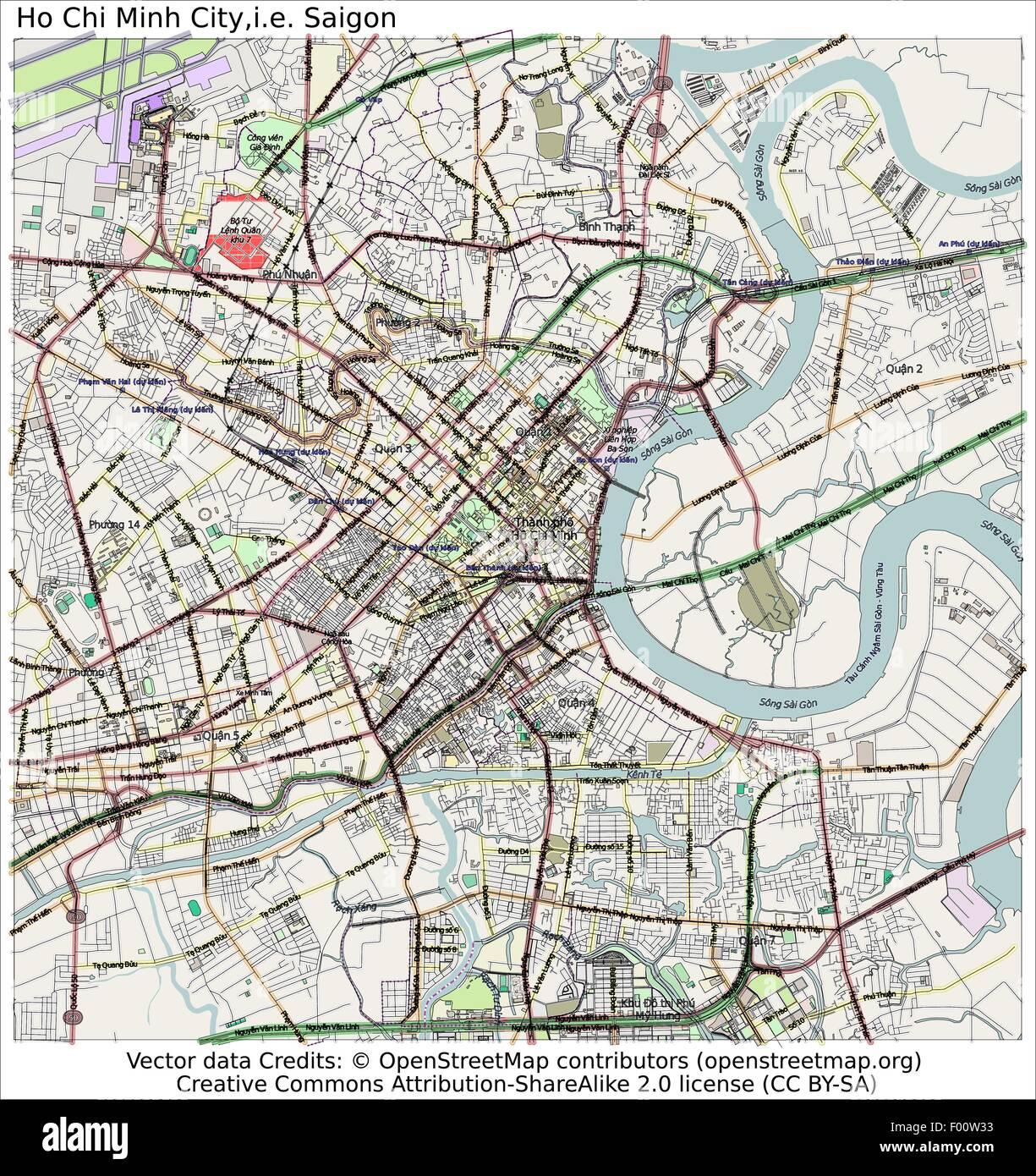 Ho Chi Minh City, Saigon Country city island state location ... Map Bo on