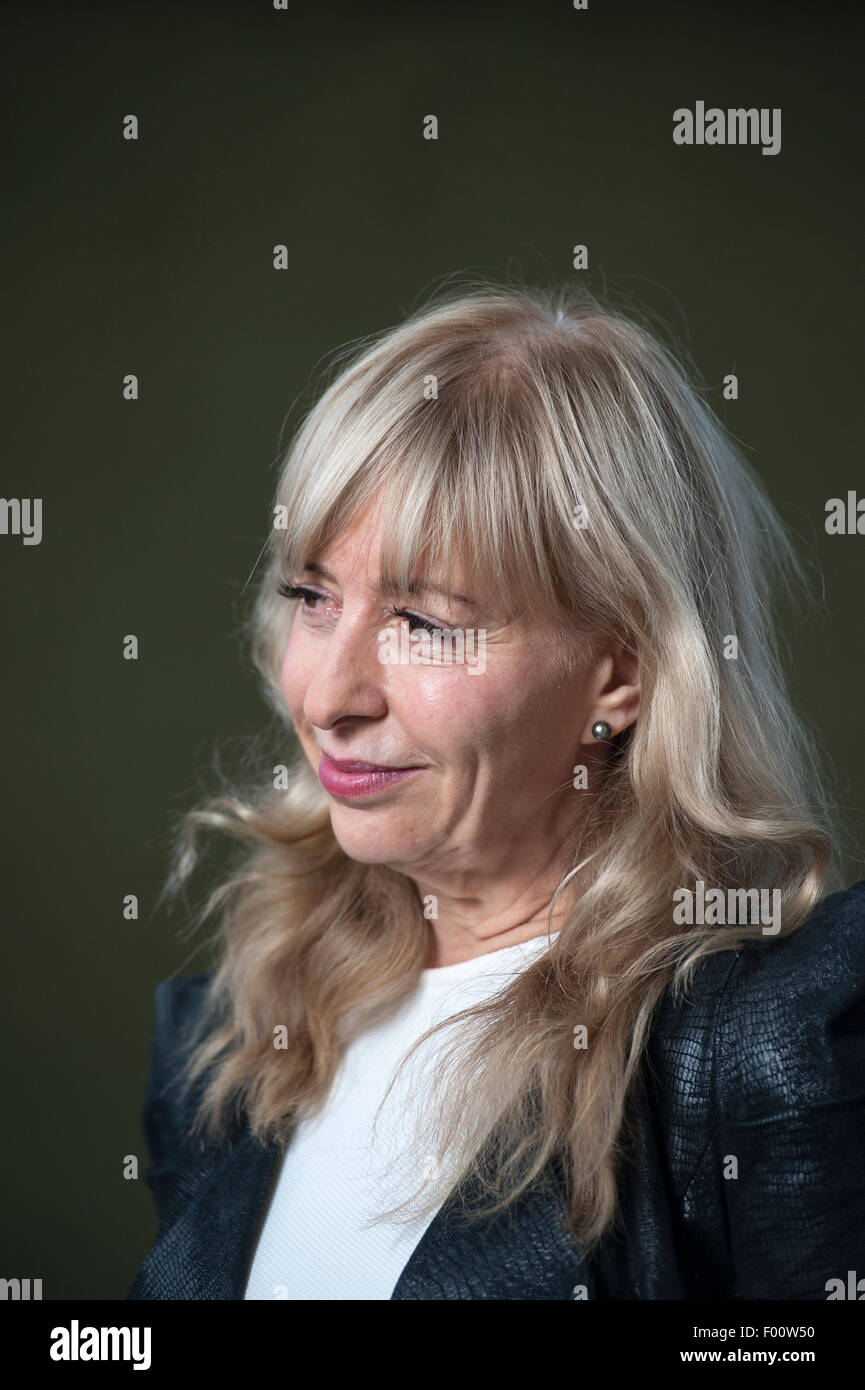 British scientist, writer, broadcaster, Susan Greenfield, appearing at the Edinburgh International Book Festival. - Stock Image