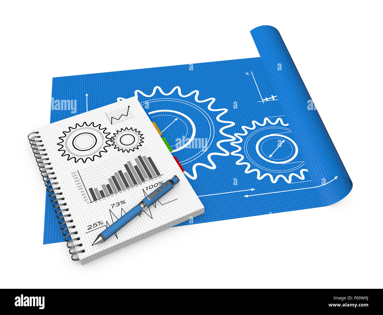 Blueprint development project as concept stock photo 86071710 alamy blueprint development project as concept malvernweather Image collections