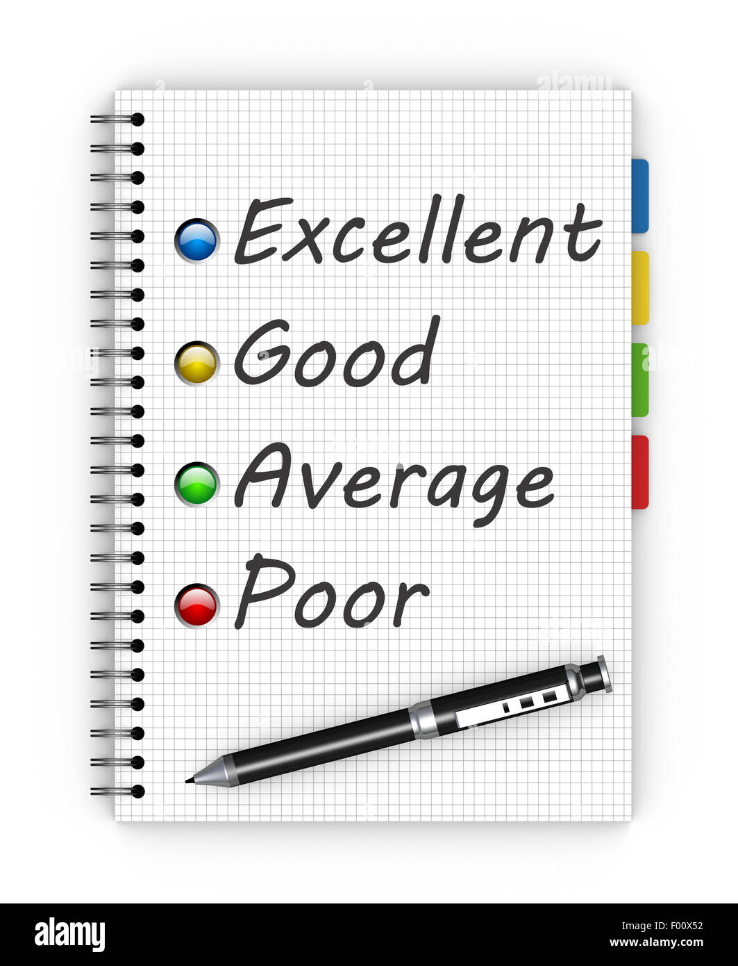 Customer satisfaction survey form with pen Stock Photo