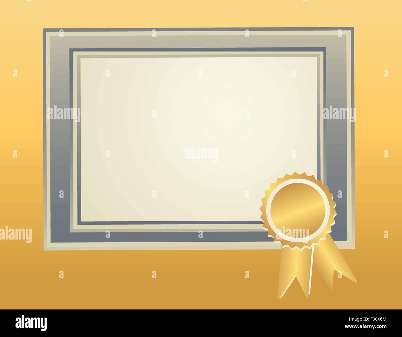 Blank Frame template with award seal for certificate, diploma Stock ...
