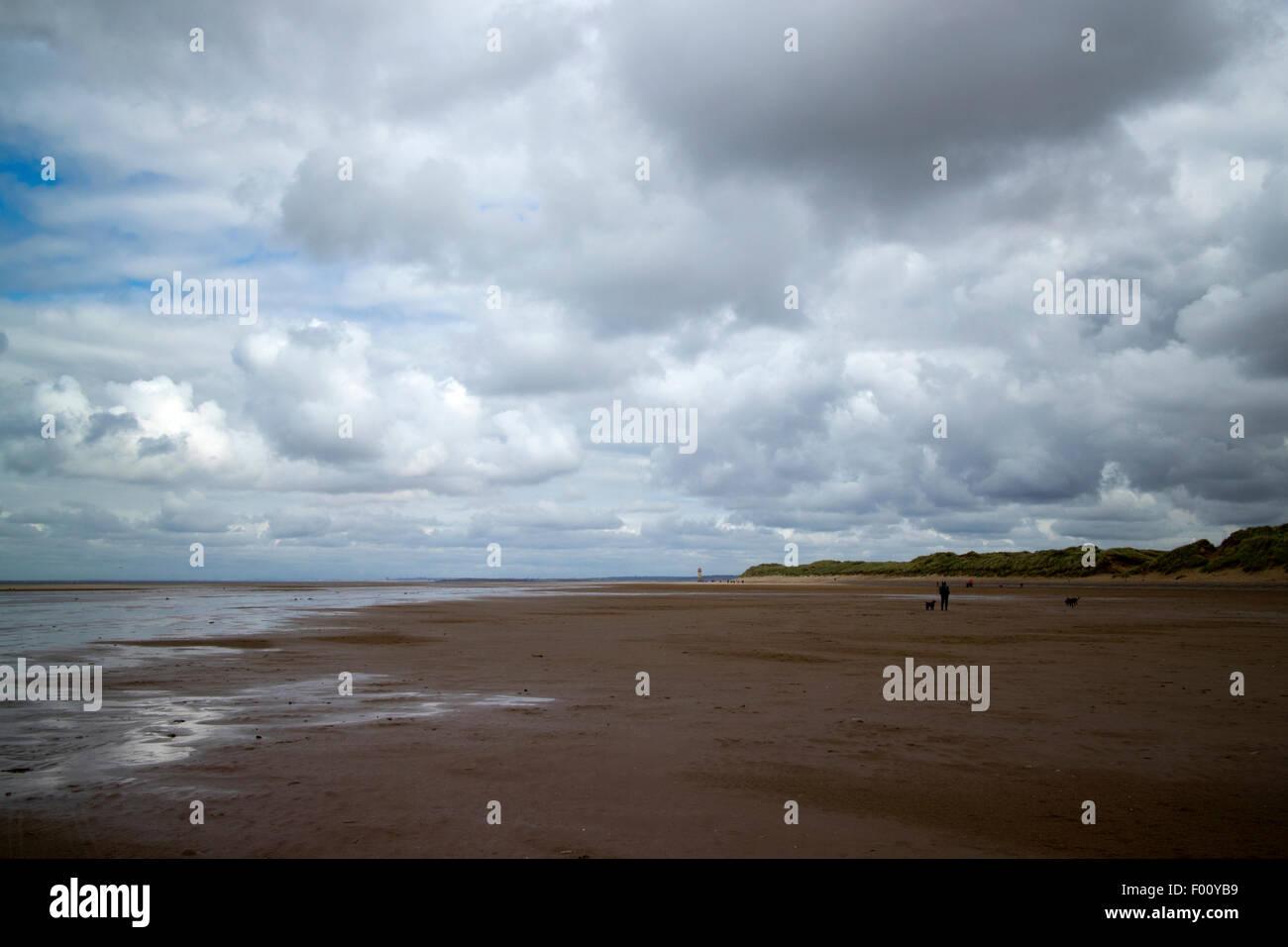 warren beach near Talacre beach sssi north wales uk - Stock Image
