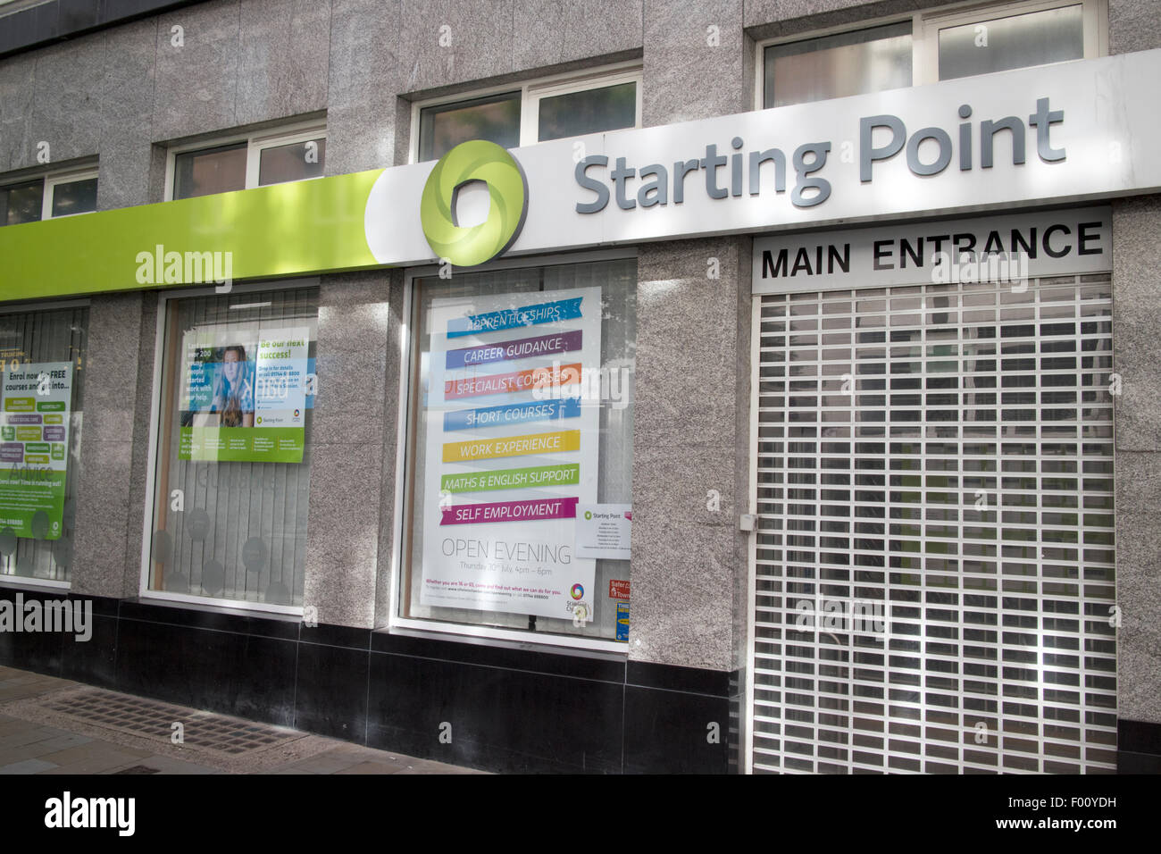 starting point careers and job information offices st helens uk - Stock Image
