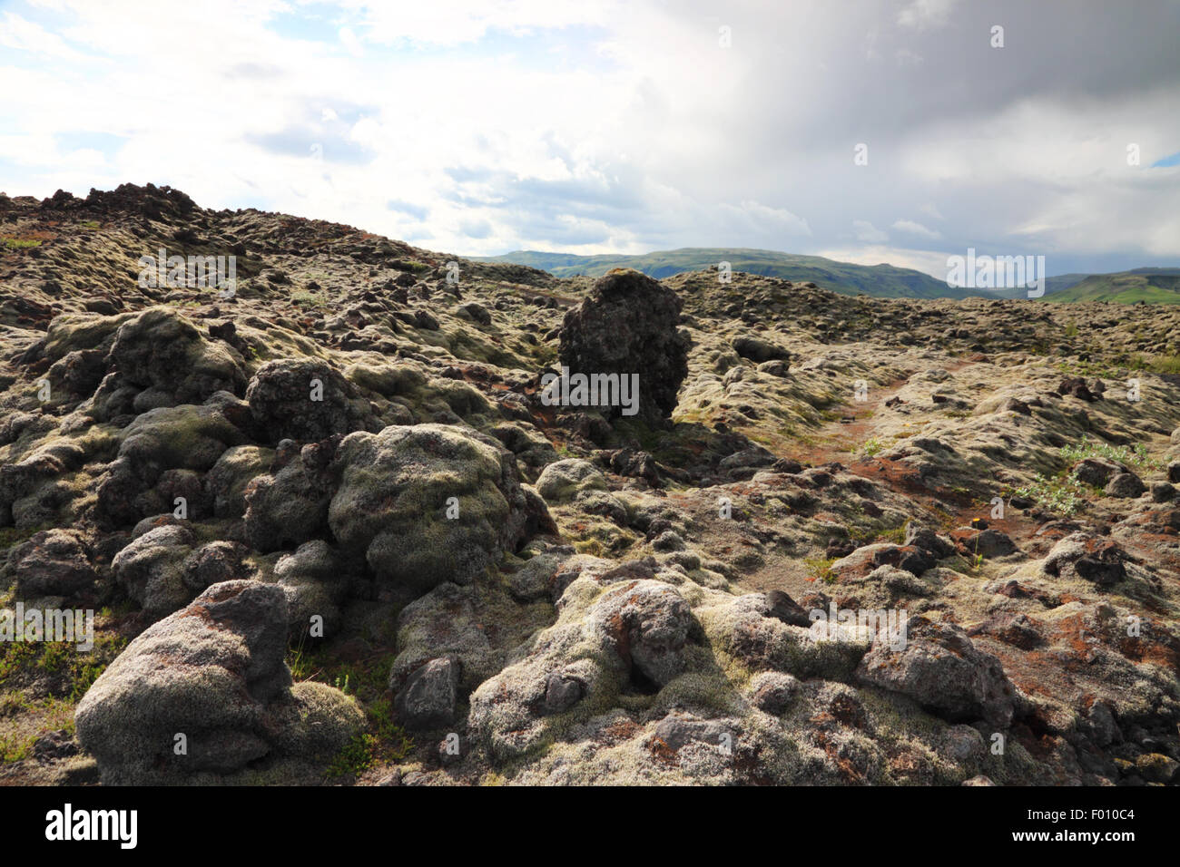 A weathered lava field. - Stock Image