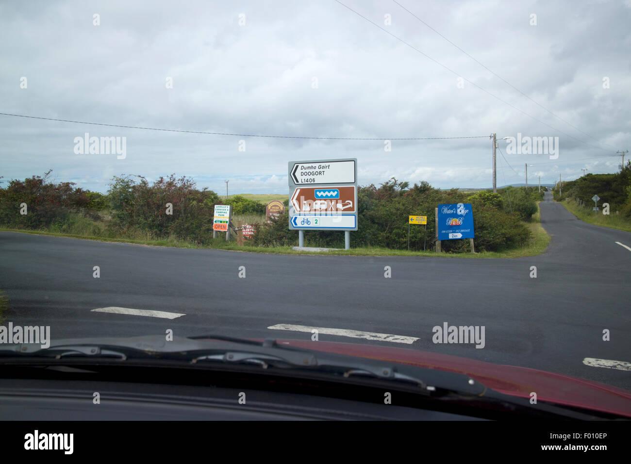 driving the wild atlantic way Achill Island, County Mayo, Ireland - Stock Image
