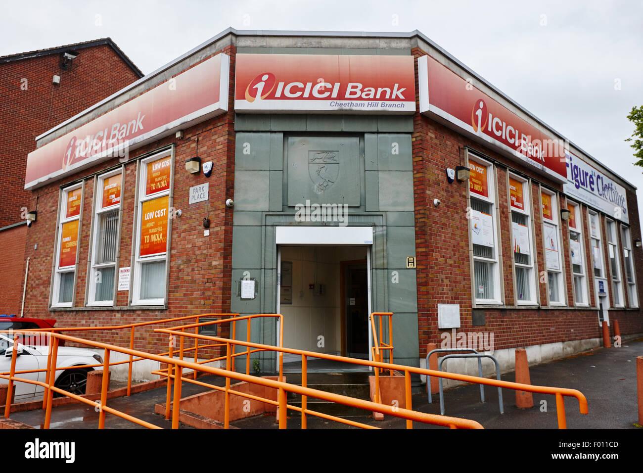icici bank new york Bank Branch England Stock Photos