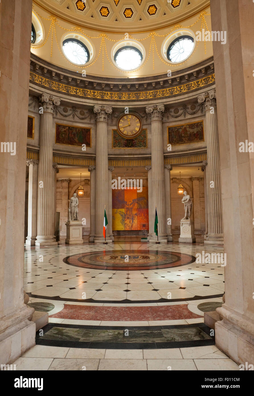 Entrance Hall or Rotunda in City Hall, Opened 1779,  Dame Street, Dublin City, Ireland - Stock Image