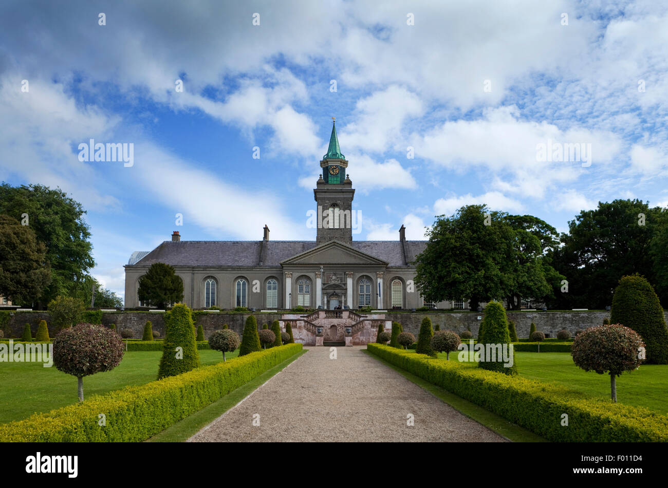 The renovated gardens in the grounds of the Royal Hospital, now the Irish Museum of Modern Art, Kilmainham, Dublin - Stock Image