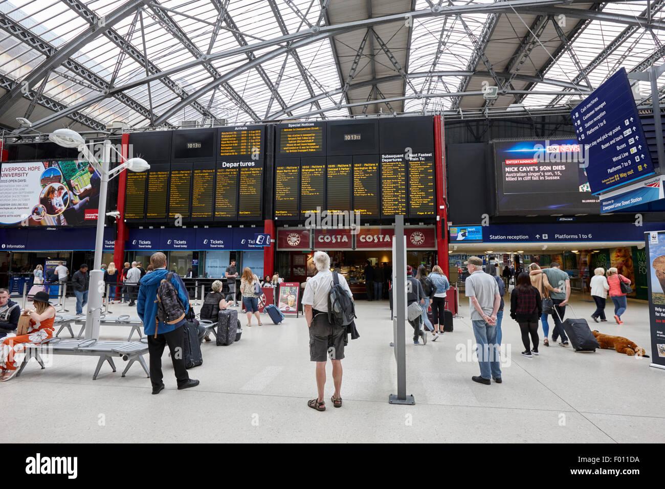 Liverpool Lime Street Station England UK