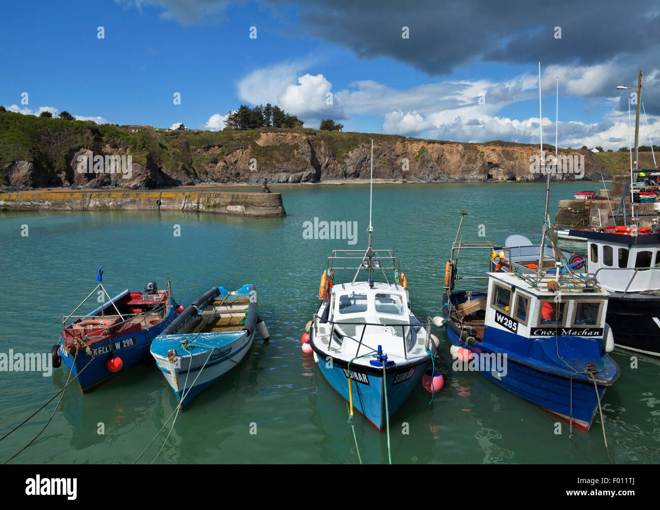 Boatstrand Harbour, The Copper Coast, County Waterford, Ireland - Stock Image