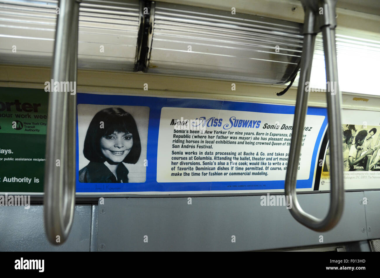 Vintage Adverts Stock Photos Images Alamy Hand Grip Kansa Busa New York Transit Museum Carriage Subway 1961 Grey Gray Livery